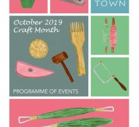 Front cover of a brochure advertising craft activities